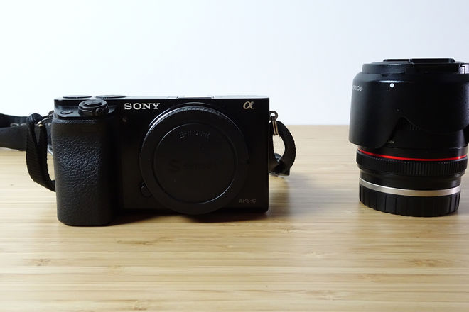 Sony a6000 Mirrorless Camera w Rokinon 21mm F1.4 Lens