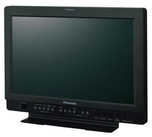 "Panasonic 17"" Monitor with Rolling Case and BNC Cable"