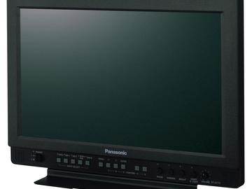"""Panasonic 17"""" Monitor with Rolling Case and BNC Cable"""