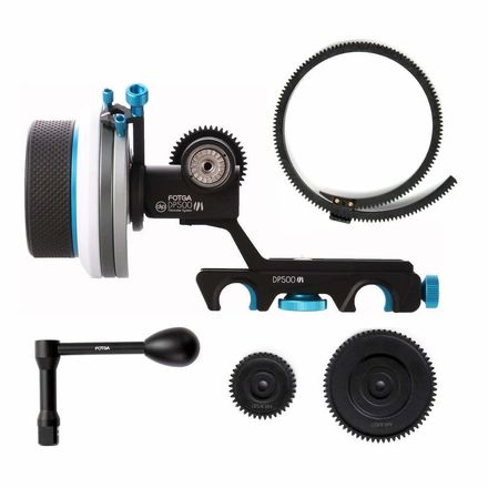 Fotga DP500III Follow Focus + Extra Long Whip Crank Package