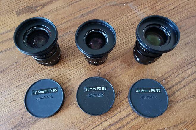 Voigtlander Nokton F.095 Prime Set (17.5mm, 25mm, 42.5mm)
