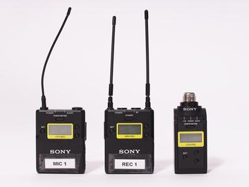 Sony UWP Lav Mic + Wireless Shotgun Transmitter