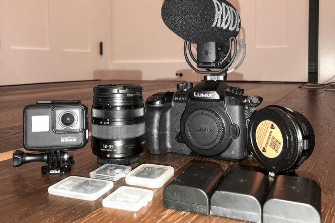 Panasonic GH5 + Metabones + Rode Shotgun + GoPro7 Black