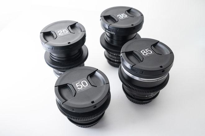 Zeiss ZF.2 Duclos Cine-modded 4 lens full frame lens set
