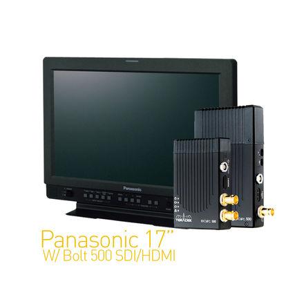 Panasonic 17-in W/ Teradek Bolt 500 SDI/HDMI Set 1:1
