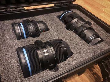 Rent: Sigma Art + Tokina EF Cinevized Lens Kit
