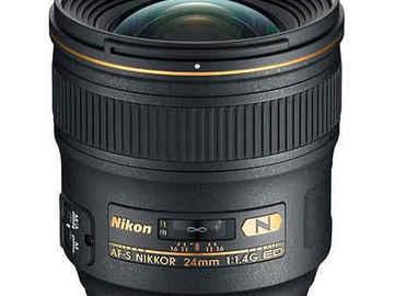 Rent: Nikon 24mm 1.4 AF Prime Lens + Gear + Sony Adapter - FF