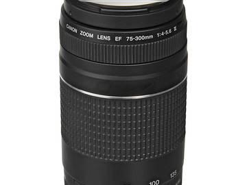 Rent: Canon Telephoto Zoom Lens EF 75-300  F/4-5.6 III Lens