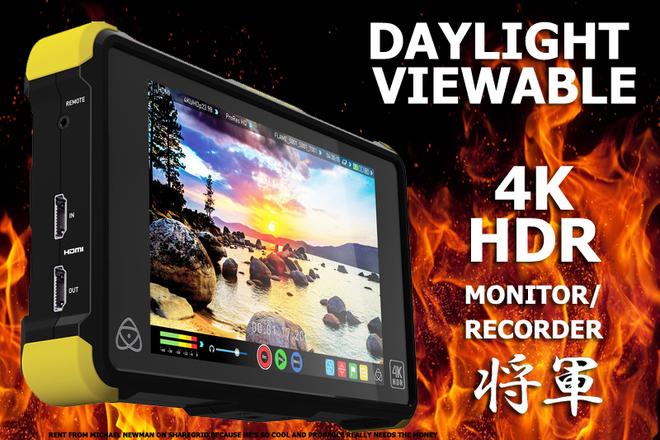 Atomos Shogun Flame 4K Recorder and HDR Monitor