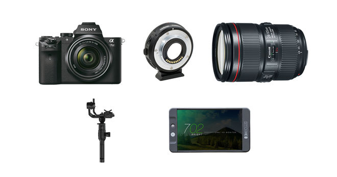 Sony Alpha a7S II with Lens, DJI Ronin-S & Small HD Package