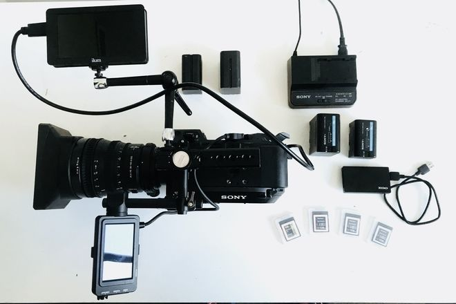 Sony FS7  (EVF Viewfinder, 6 Cards, Batteries, Charger)