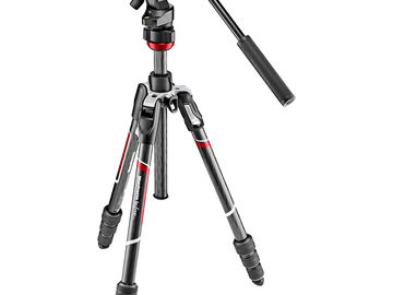 Manfrotto Carbon Fiber Video Tripod Befree Live Travel Light