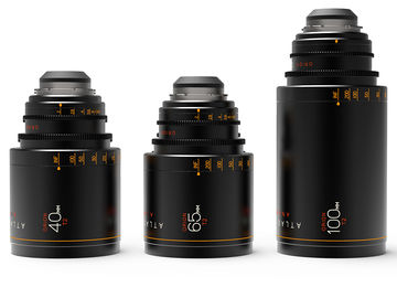 ATLAS 3 x ANAMORPHIC PRIME LENSES 40/65/100 T2 (Brand New)