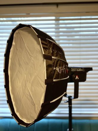 Aputure LS C120d ii w/ Light Dome Mini ii