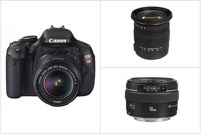 Canon EOS Rebel T3i DSLR Camera with Lenses (Package)