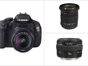 Rent: Canon EOS Rebel T3i DSLR Camera with Lenses (Package)