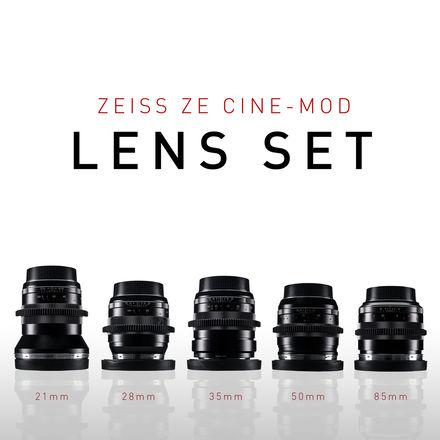 Zeiss ZE Lens Set - DUCLO CINE-MOD (21, 28, 35, 50, 85)