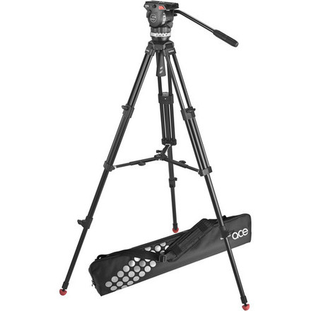 Sachtler Ace M Fluid Head with 2-Stage Aluminum Tripod & Mid
