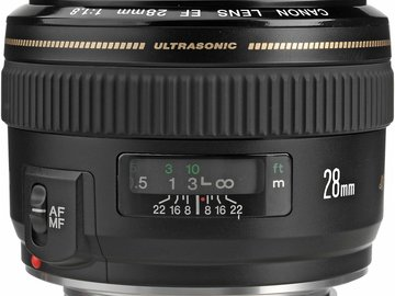 Rent: Canon EF 28mm f/1.8 USM Wide Angle Lens for Canon SLR Camera