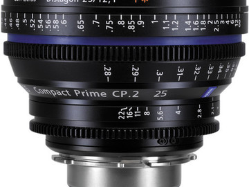 Rent: Zeiss CP.2 25mm Cine Lens (EF Mount or Sony-E)