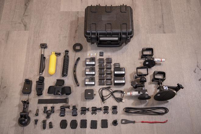 3x GoPro HERO5 Black Kit (w/ PRO Accessories + Batteries)