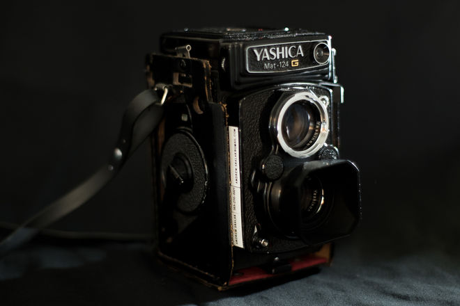 Yashica Mat-124G Medium Format Film Camera and Light Meter