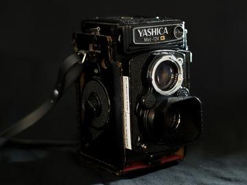 Yashica Mat-124G Medium Format Film Camera and Light Meter