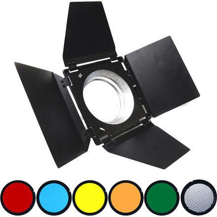Savage 4-Way Barndoors Set with Gels for Westcott Skylux LED