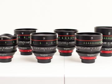 Rent: Canon CN-E Primes 6 Lens Set, 14, 24, 35, 50, 85, 135
