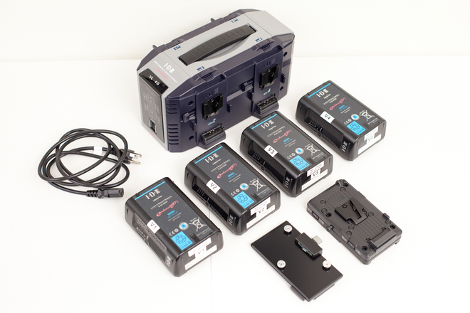 4x IDX Endura 150wh V-Lock Batteries & 4-Channel Charger