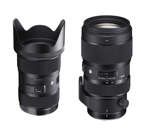 Sigma 18-35mm & 50-100mm f/1.8 kit w/ Lens Gears