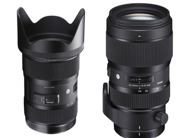 Rent: Sigma 18-35mm & 50-100mm f/1.8 kit w/ Lens Gears