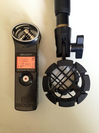 Zoom Stereo Digital Recorder w/ boom pole and headphones