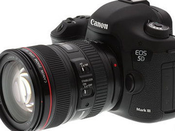 Rent: Canon EOS 5D Mark III DSLR Camera Package (With Lenses)