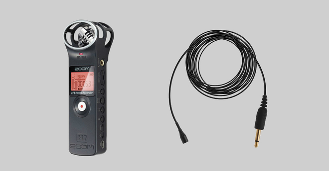 Zoom H1 (1) + External Cables (3) + Lavalier Mic (1)