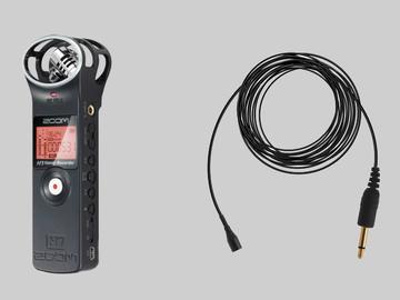Rent: Zoom H1 (1) + External Cables (3) + Lavalier Mic (1)