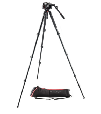Manfrotto 504HD  Video Head Tripod with Legs