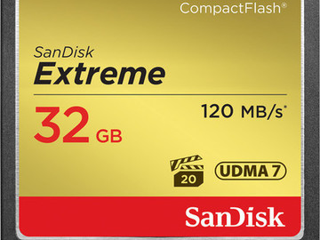 Rent: (2) 32GB San Disk Extreme CF Card