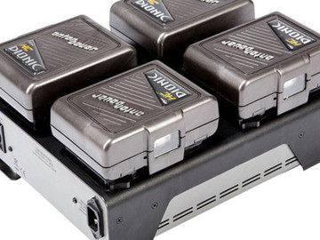 Rent: (4) ANTON BAUER HC DIONIC  BATTERIES with TM4 QUAD CHARGER