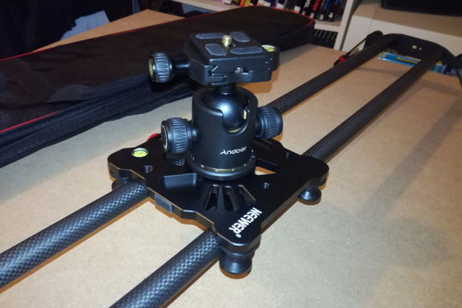 "Neewer 39"" Slider + Manfrotto Tripod"