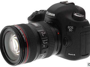 Rent: 5d III With 24-105 L series & 2 batteries
