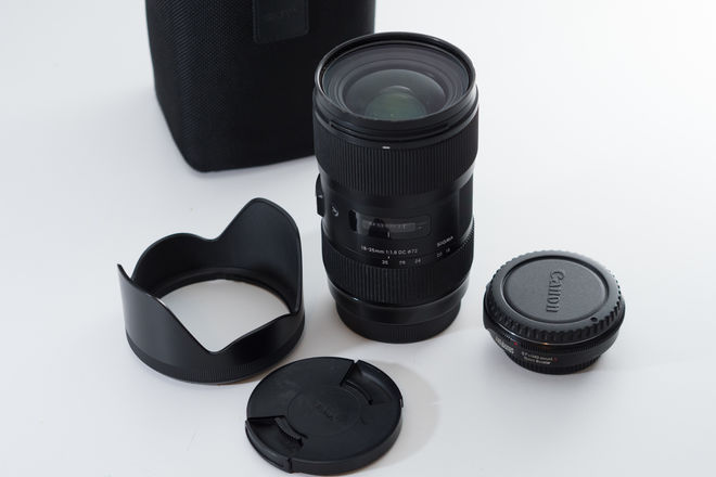 Sigma 18-35mm f/1.8 Canon with MFT Speedbooster 0.71x