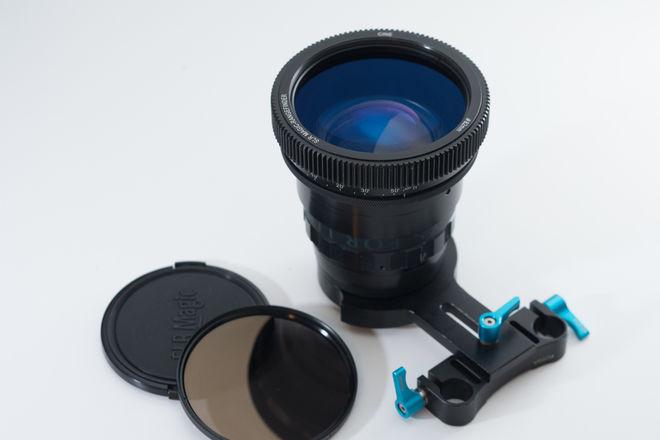 Elmoscope II anamorphic adapter with SLR Magic Singlefocus