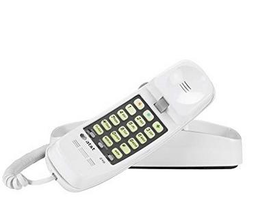 Retro style landline Corded Phone (White)