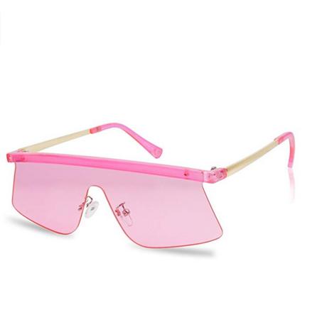 Futuristic Bold Frameless Pink Sunglasses