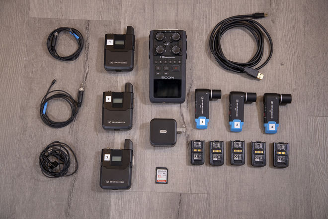3x Sennheiser AVX Kit — Zoom H6, Extra Batteries, MKE2, etc!