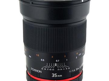 Rokinon 35mm f1.4 for Canon EF