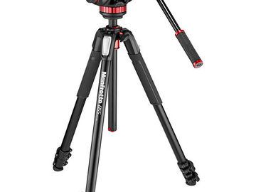 Manfrotto 502AH Video Head & MT055XPRO3 Aluminum Tripod Kit