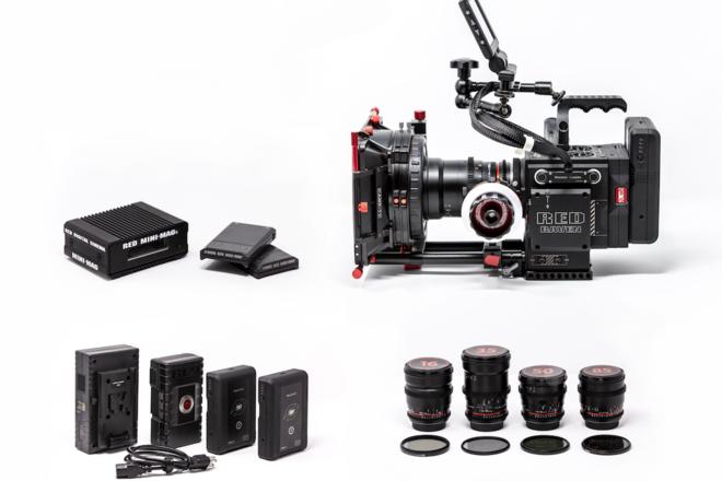 RED Raven Dragon 4.5K + 4 Cine Lenses + Shoulder Rig