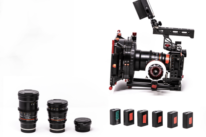 Sony A7sii Cinema Package. W/ Handheld kit & Lenses